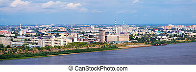 panoramic view of  residential district at Nizhny Novgorod