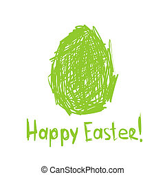 Happy Easter! Sketch greeting card for your design