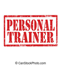 Personal Trainer-stamp - Grunge rubber stamp with text...