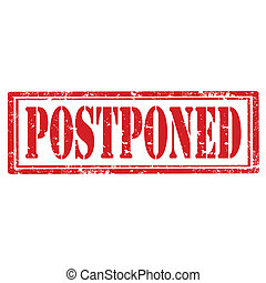 Postponed-stamp - Grunge rubber stamp with text...