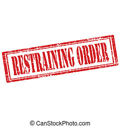 Restraining Order-stamp - Grunge rubber stamp with text...