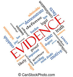 Evidence Word Cloud Concept Angled - Evidence Word Cloud...