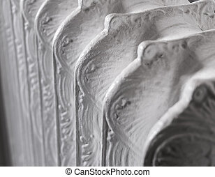 Victorian Radiator - Detail of an old Victorian cast iron...