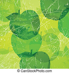 Vector Background with Apples - Vector Illustration of an...