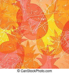 Vector Illustration of an Abstract Background with Pineapples