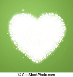 Vector Green Background with Hearts