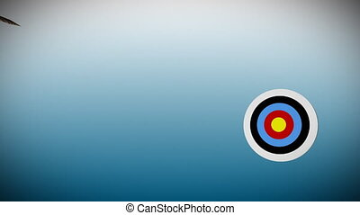 TARGET BOARD 2 - 3d arrow hitting a bulls eye
