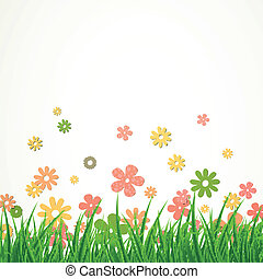 Vector Flower Background - Vector Illustration of a Flower...