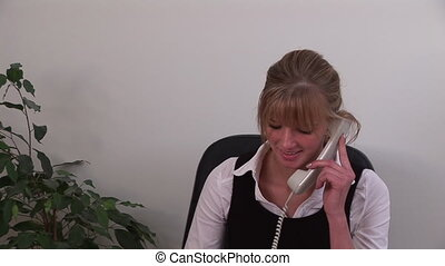 Business woman working from home - Business woman working...
