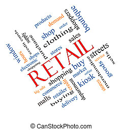 Retail Word Cloud Concept Angled - Retail Word Cloud Concept...