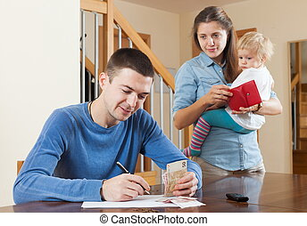 Lack of money at home - Quarrel in the family of three due...