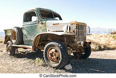 Mansons Old Truck - Charles Mansons old truck sitting...