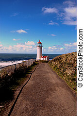 Lighthouse - The Cape Dissapointment lighthouse in bright...