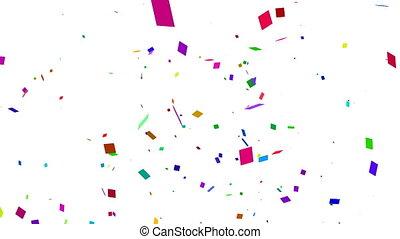 White Confetti Falling - Animated 3d White Confetti Falling