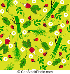 Seamless vegetables garden radish illustration background...