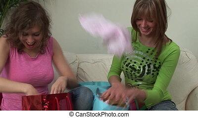 Christmas time - Two Girls at Christmas time