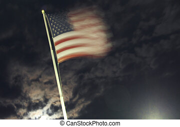 Stars and Stripes - The american flag photographed on a...
