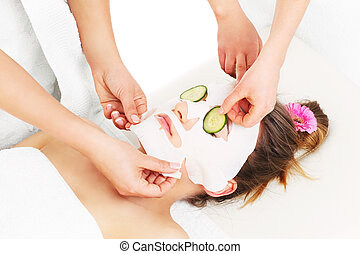 Mask and cucumber