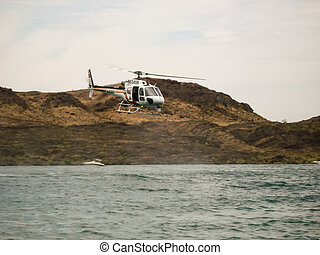 Helicopter Rescue - Coast Guard Rescue helicopter on a recue...