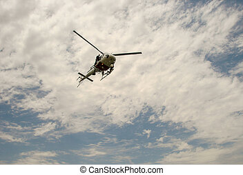 Rescue Helicopter - Coast Guard Rescue helicopter on a recue...