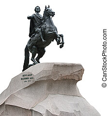 """The Bronze Horseman"" monument in Saint Petersburg, Russia -..."