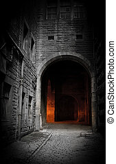Dark courtyard (Edinburgh, Scotland)