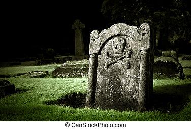 Graveyard - Gravestone in old cemetery