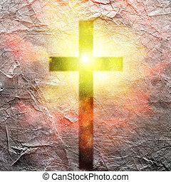 Cross Hangs in Sky