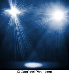 illustraction of two blue spotlights