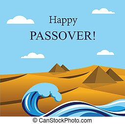 happy Passover- Out of the Jews from Egypt Jewish Holiday