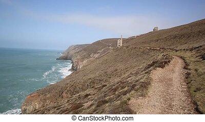 Tin mine and Coast Path Cornwall - Coast Path Cornwall...