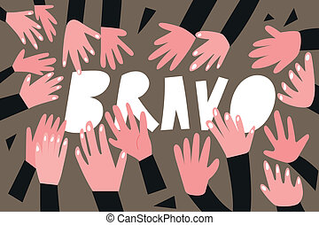 clapping hands,applause - vector illustration - clapping...