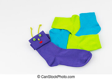 socks in the form of a snail