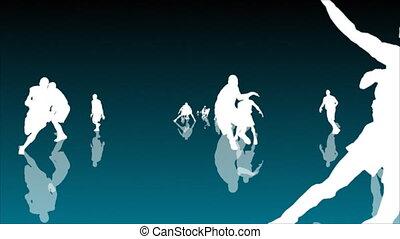 Basketball Animation 3 - BASKETBALL PLAYERS SEAMLESS...