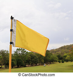 Flag on the beautiful golf course