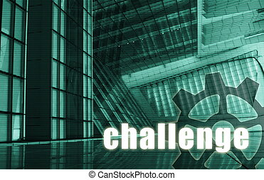 Challenge Futuristic as a Art Abstract Background