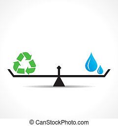 save nature concept recycle symbol