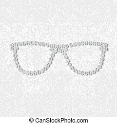 pills concept: glasses