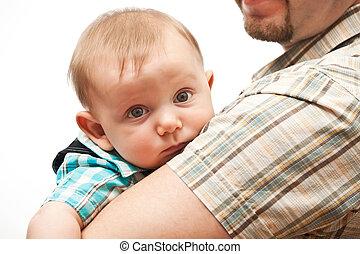 baby portrait - portrait of cute caucasian baby