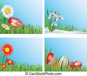 Easter corner decoration set