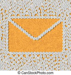 pills concept: newsletter, envelope