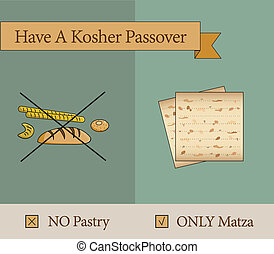 have a kosher passover holiday pastery vs matza