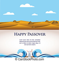 happy Passover- Out of the Jews from Egypt. illustration