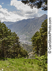 Andorra la Vella seen from a distance - Andorra la Vella,...