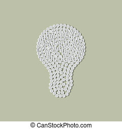 pills concept: idea, lightbulb