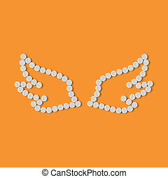 pills concept: wing, feather, angel