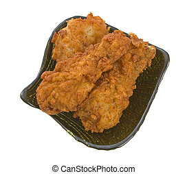 Plate  of Fried Chicken Pieces