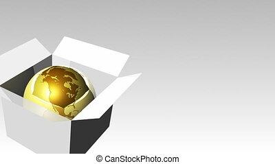 Globe in a box 1 - 3d Globe in a box 7