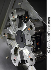 Spindle modern machine tool. Shallow depth of field.