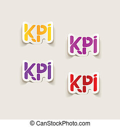 realistic design element: KPI